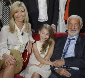 Natty, Jean-Paul Balmondo et leur fille Stella sur le plateau de Vivement dimanche en 2013.