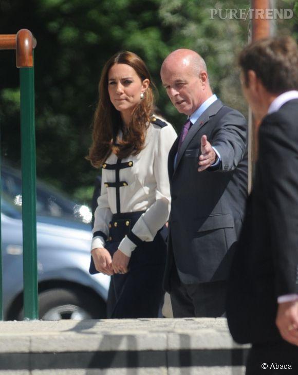 Kate Middleton en visite officielle à Bletchley Park le 18 juin 2014.