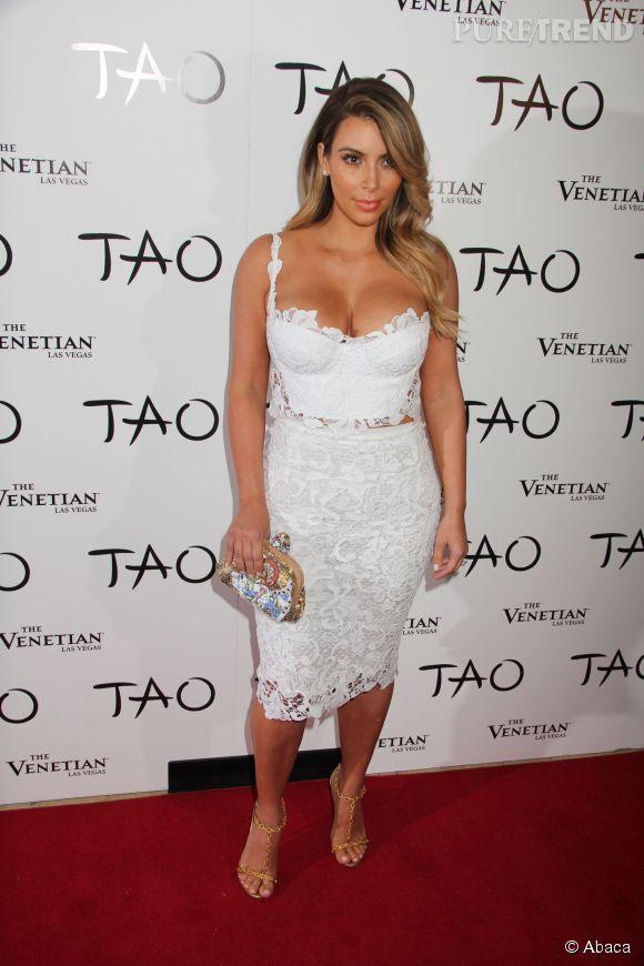 Kim Kardashian à la soirée TAO à Las Vegas.