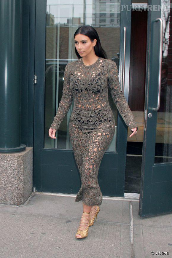 Kim Kardashian adore montrer ses sous-vêtements.