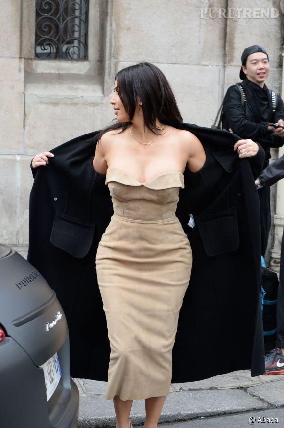 Kim Kardashian, très show off.