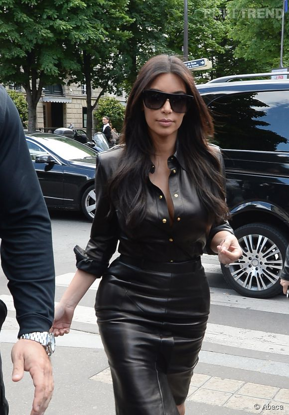 Kim Kardashian, madame en cuir.