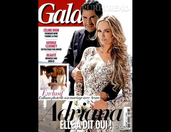 Adriana Karembeu et André Ohanian se sont mariés.