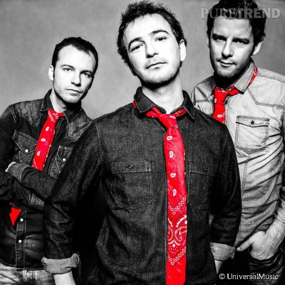 La bande à Renaud, est en autre constituée de Renan Luce (au centre), le gendre du chanteur.