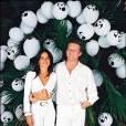 Patrick Sébastien et Nana lors d'une soirée Blanche d'Eddie Barclay en juillet 1995.
