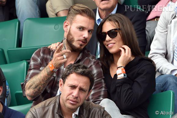 Matt Pokora et la danseuse Scarlett Baya à Roland Garros 2014.