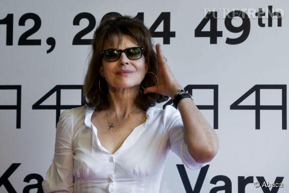 """Fanny Ardant présente son film """"Cadences obstinées"""" en République Tchèque le 6 juillet 2014."""