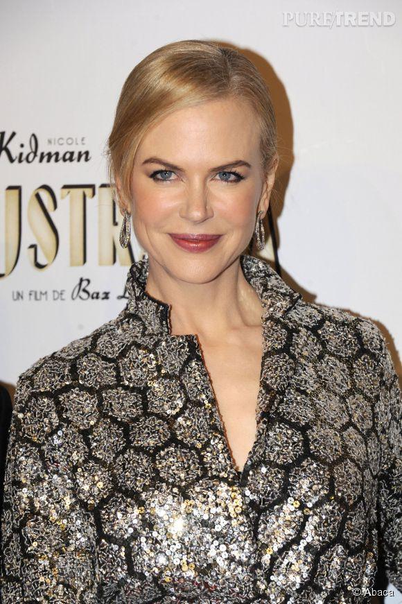 """Nicole Kidman lors de la première du film """"Australia"""" à Paris en 2008."""