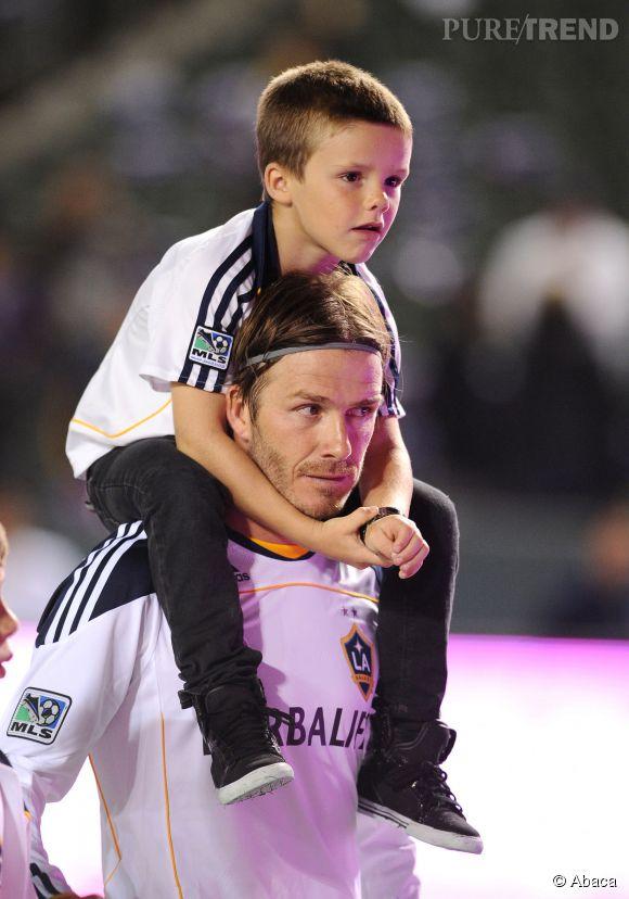 David Beckham et son fils Cruz en 2011.