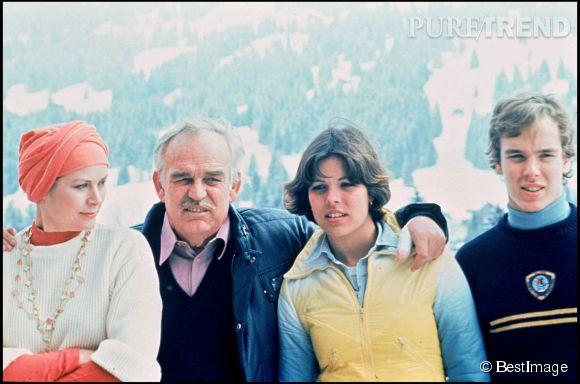 Le prince Albert II de Monaco lors de vacances en famille en 1976.