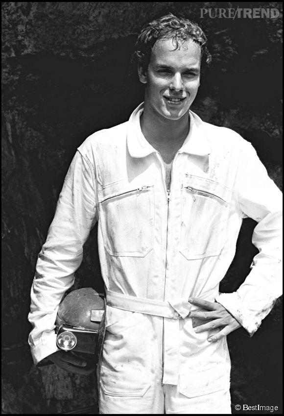 Le prince Albert II de Monaco, une chevelure soyeuse en 1980.