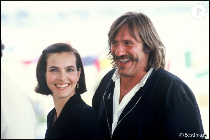 carole bouquet et g rard depardieu d j complices en 1989 pour la pr sentation de trop belle. Black Bedroom Furniture Sets. Home Design Ideas