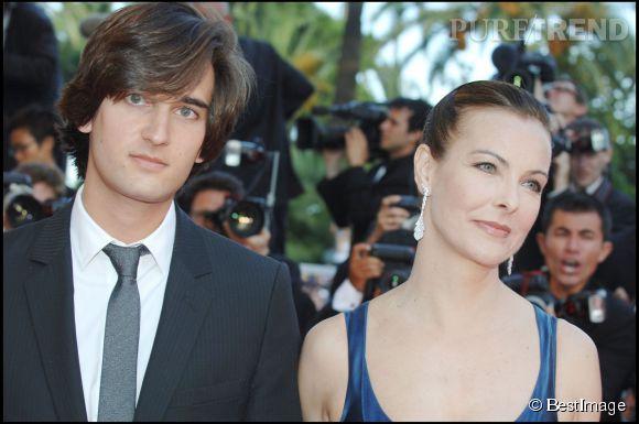 carole bouquet et son fils dimitri rassam au festival de cannes en 2007 le jeune homme est devenu producteur comme son pre - Carole Bouquet Mariage 1991