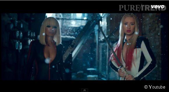 """Rita Ora et Iggy Azalea dans le clip """"Black Widow"""" réalisé par Iggy et Director X."""