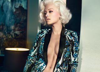 Rita Ora, mutine Marilyn de Roberto Cavalli