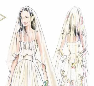 Angelina jolie : une robe de mariée dessinée par ses enfants