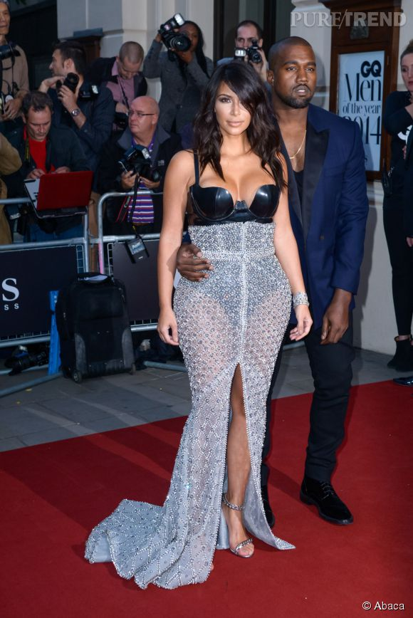 Kim Kardashian et Kanye West aux GQ Men of The Year Awards 2014 à Londres le 2 septembre.