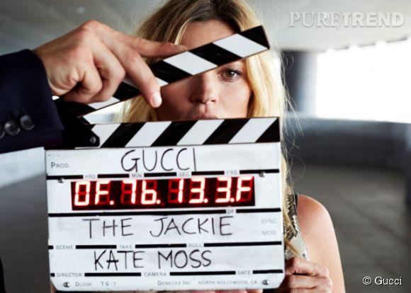 Kate Moss est la star du court métrage pour la nouvelle ligne de sacs Jackie de Frida Giannini pour Gucci.
