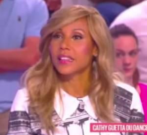 """Cathy Guetta revient sur sa rupture avec David Guetta sur le plateau du """"Grand 8""""."""