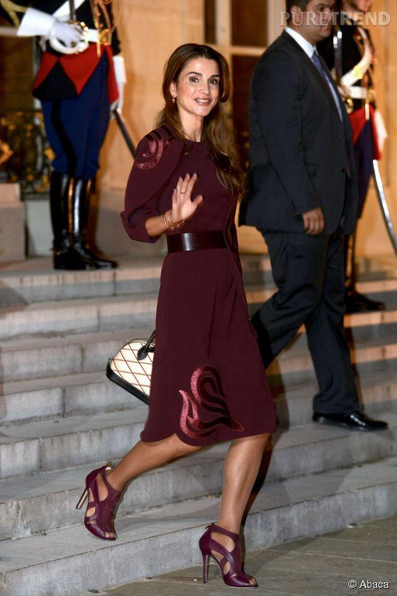 Rania de Jordanie au palais de l'Elysée le 17 septembre 2014.