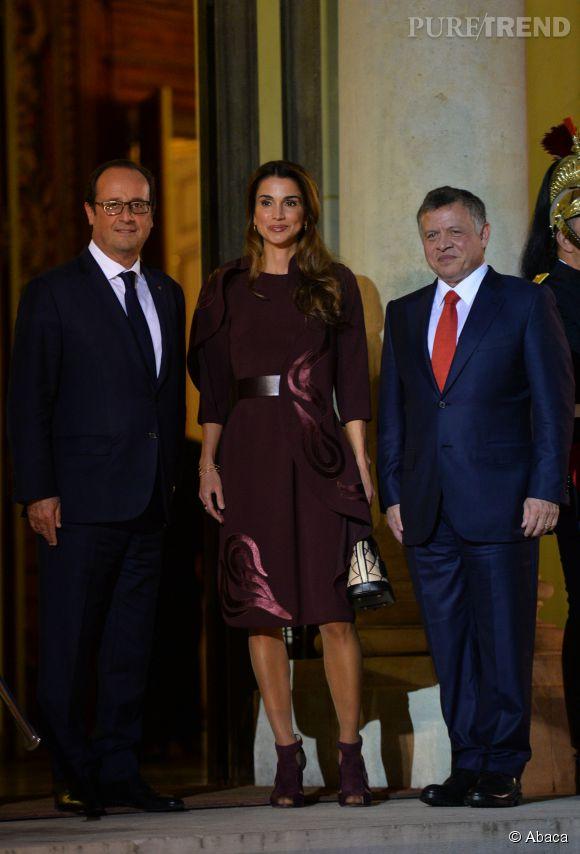 Rania de Jordanie attire tous les regards à l'Elysée.