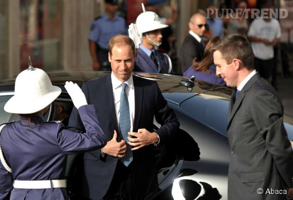 Le prince William en visite à Malte arrive à Valletta le 21 septembre 2014.