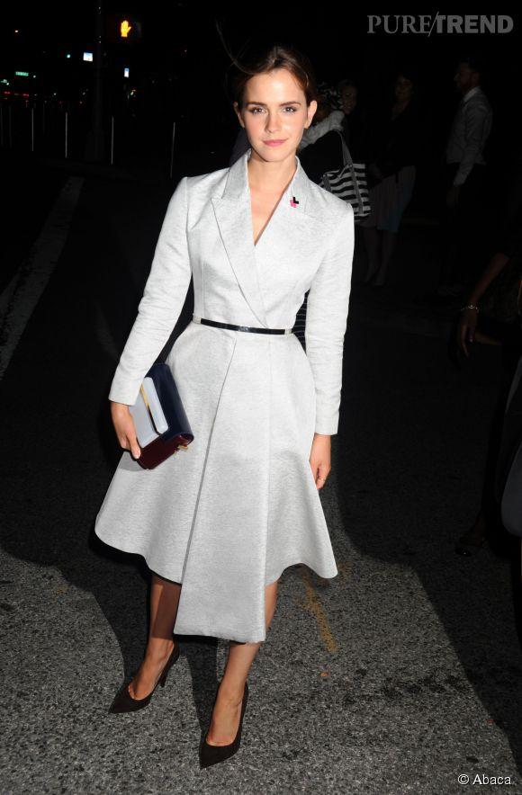 Emma Watson, une femme chic et engagée pour la cause féministe.