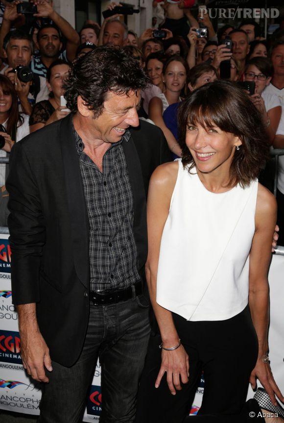 """Sophie Marceau et Patrick Bruel, le duo complice du film """"Tu veux ou tu veux pas ?"""", ils se confient sur le plateau de  France 2 ."""