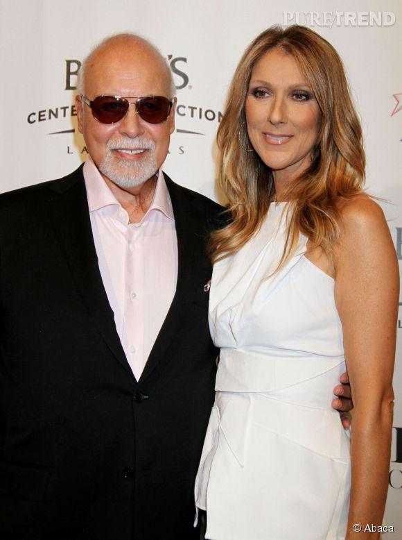 René Angelil et Céline Dion en 2013. Leur couple est plus soudé que jamais après voir combattu la maladie à plusieurs reprises.
