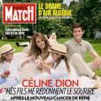 Céline Dion et ses fils en couverture du  Paris Match.  Ils sont son oxygène.