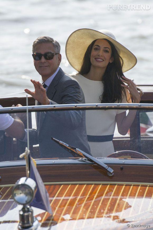 George Clooney et sa femme : Madame Amal Alamuddin-Clooney.