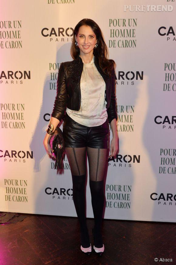 Frédérique Bel à la soirée anniversaire de la maison Caron à Paris le 9 octobre 2014.