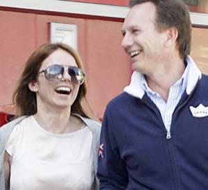 Geri Halliwell et Christian Horner, le directeur de l'écurie F1 Red Bull Racing, sont sur un petit nuage.
