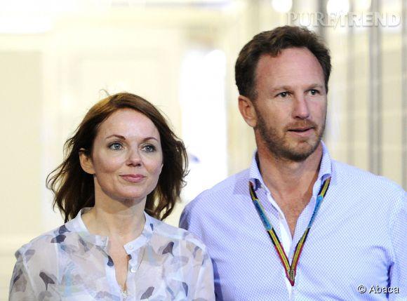 Les futurs mariés : Geri Halliwell et Christian Horner.