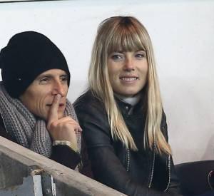 Nagui a assisté à la rencontre PSG - Ajax en compagnie de son épouse, la comédienne Mélanie Page.