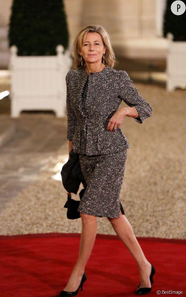 Claire Chazal à l'Elysée en 2012.