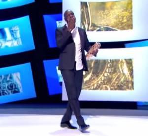 """Omar Sy récompensé du César du Meilleur Acteur en 2012 pour son personnage dans """"Intouchables"""" ."""