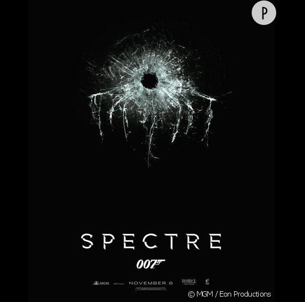 """L'affiche du 24e """"James Bond"""", """"Spectre""""."""