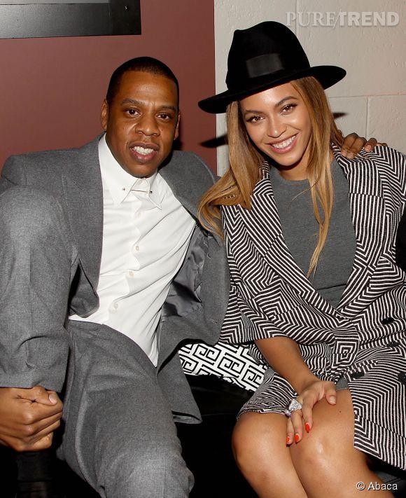 """Duo stylé, Jay-Z et Beyoncé semblaient plus amoureux que jamais à l'after-party organisée à New York après l'avant-première d'""""Annie""""."""