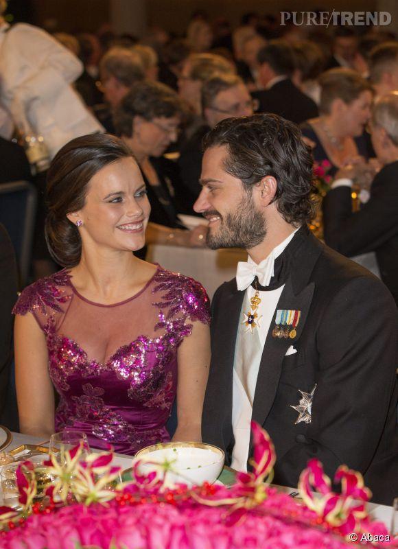 Sofia Hellqvist et Carl Philip se sont dévorés du regard toute la soirée.