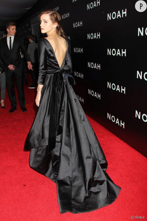 """Emma Watson, impératrice sexy pour la première de """"Noé"""" à New York."""