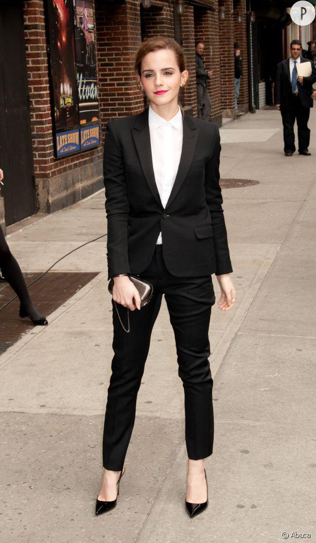 Emma Watson, look masculin/féminin