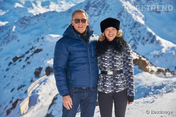 """Léa Seydoux et Daniel Craig, sur le tournage de """"Spectre"""", le prochain volet de la saga James Bond."""