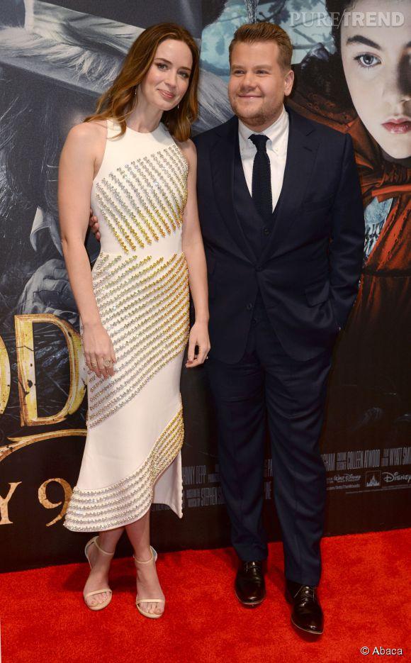 Emily Blunt et James Corden, complices, semblent apprécier l'avant-première.