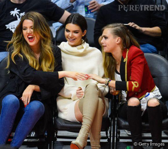 Khloé Kardashian, Kendall Jenner et Cara Delevingne sont comme des soeurs.