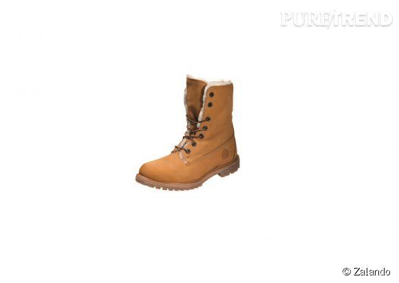 Timberland sur Zalando.fr    Boots Authentics en cuir et peau lainée, 240€.
