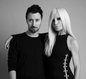 Anthony Vaccarello, nouveau directeur créatif pour Versus Versace, avec Donatella Versace.