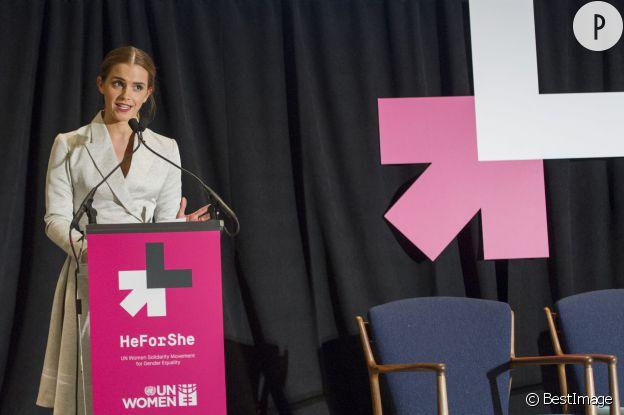 Emma Watson, la brilliante diplômée de Brown revendique son âme de féministe et s'est lancé dans un discours d'une dizaine de minutes le 20 septembre 2014 à la tribune de l'ONU de New York.