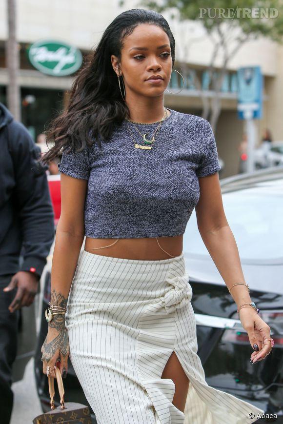 Rihanna à la sortie d'un restaurant à Beverly Hills en janvier 2015.
