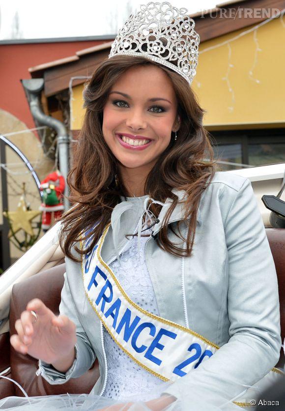 Marine Lorphelin, Miss France 2013, juste après son élection en décembre 2012.